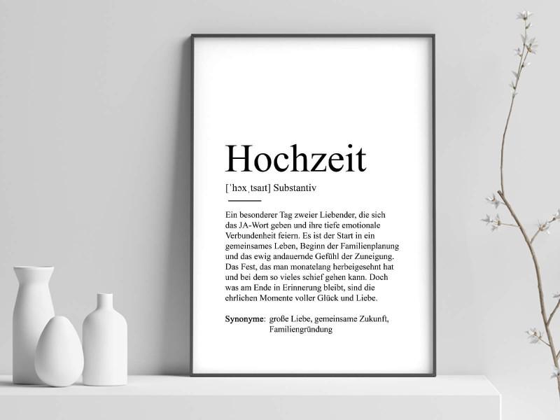 """Poster """"Hochzeit"""" Definition - 1"""