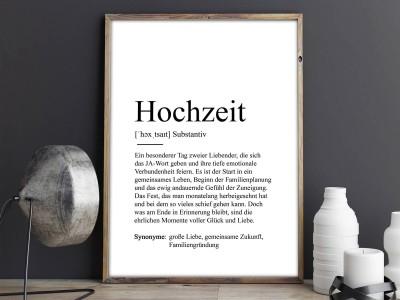 """Poster """"Hochzeit"""" Definition - 2"""