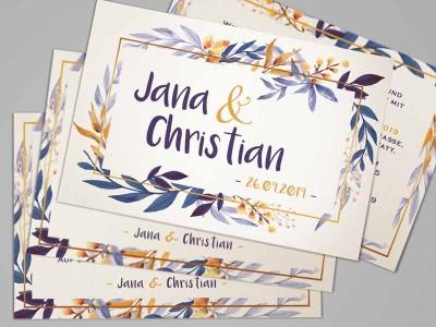 """Einladung Hochzeit """"Watercolor"""" - 3"""