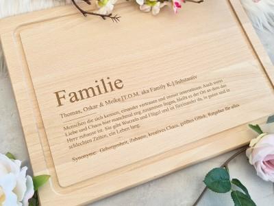 """Schneidbrett """"Familie"""" Definition - 2"""