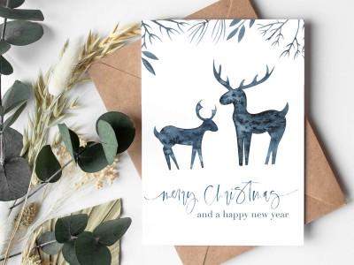 """4er Set Weihnachtskarten """"Scandinavian"""" - 5"""