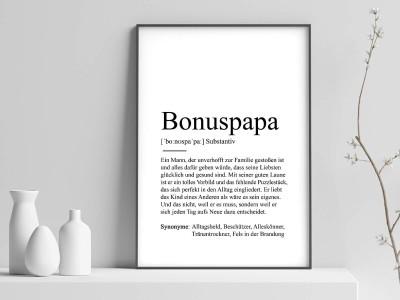 "Poster ""Bonuspapa"" Definition - 1"