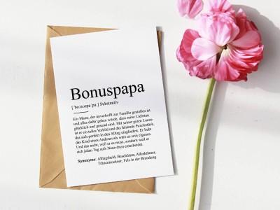 """Karte """"Bonuspapa"""" Definition - 1"""