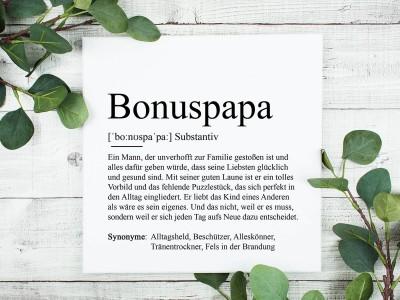 "Leinwandbild ""Bonuspapa"" Definition - 1"