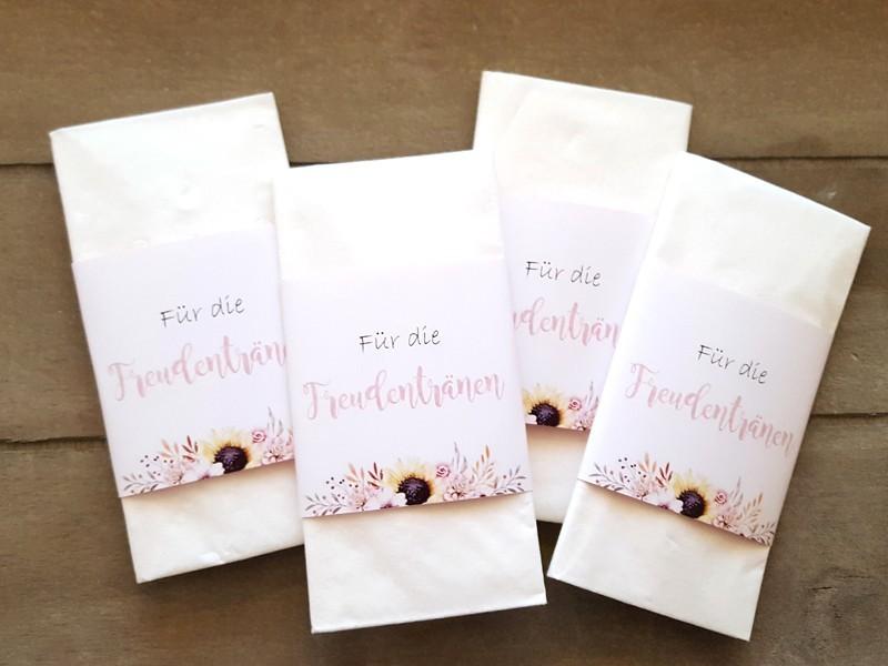 """Freudentränen Taschentücher """"Flowers"""" - 1"""