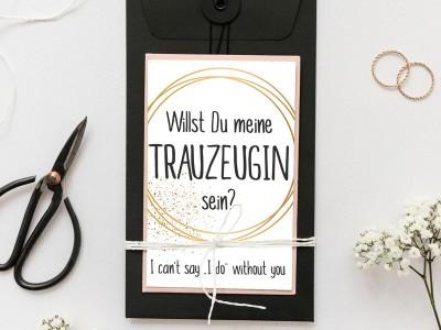 """Postkarte """"Trauzeugin"""""""