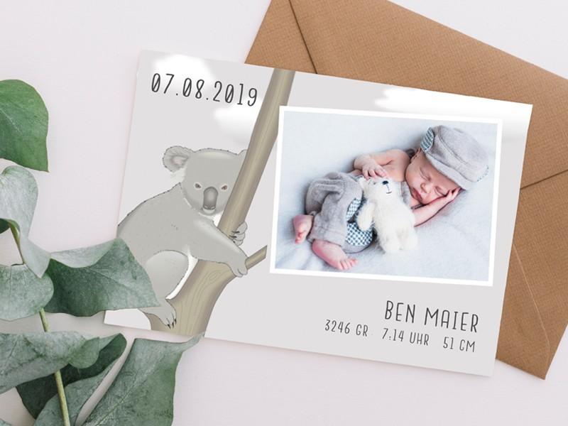 "Geburtskarte ""Koala"" - 2"