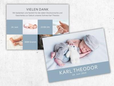 """Geburtskarte """"Twinkle"""" - 2"""