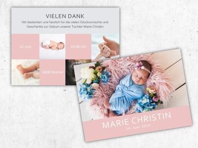 """Geburtskarte """"Twinkle"""" - 3"""