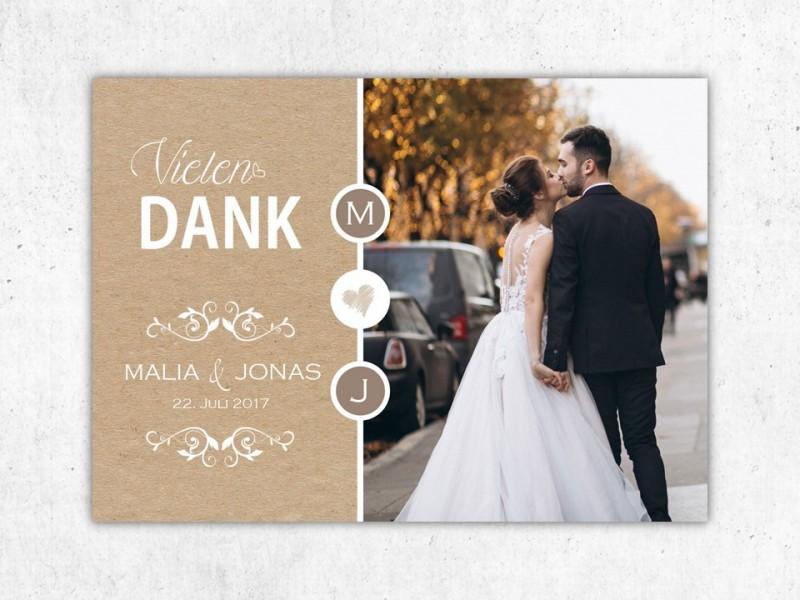 Danksagung Hochzeit - 1