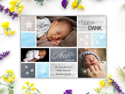 """Geburtskarte """"Stars"""" - 2"""