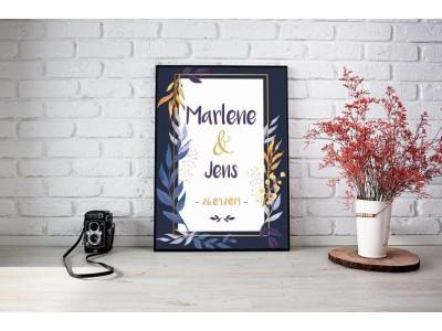 """Hochzeitsposter """"Watercolor"""" - 4"""