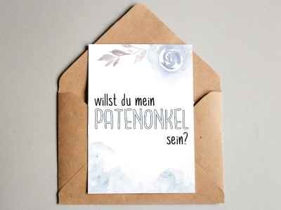 "Karte ""Patenonkel"" - 1"