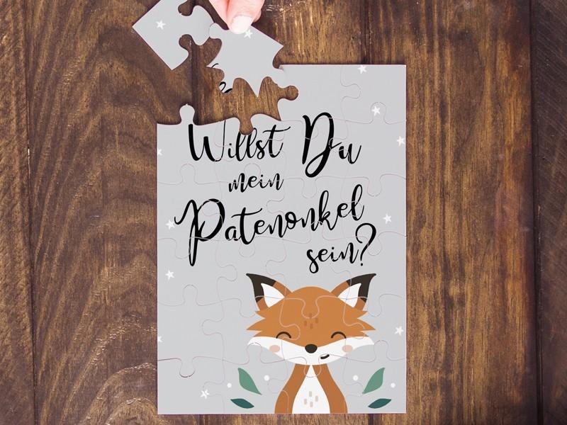 "Puzzle ""Patenonkel"" Fuchs - 1"