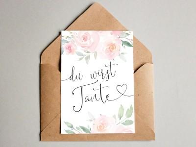 "Karte ""Tante"" Roses - 1"