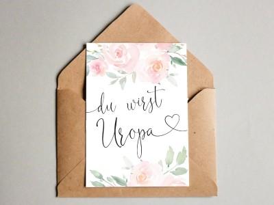 """Karte """"Uropa"""" Roses"""