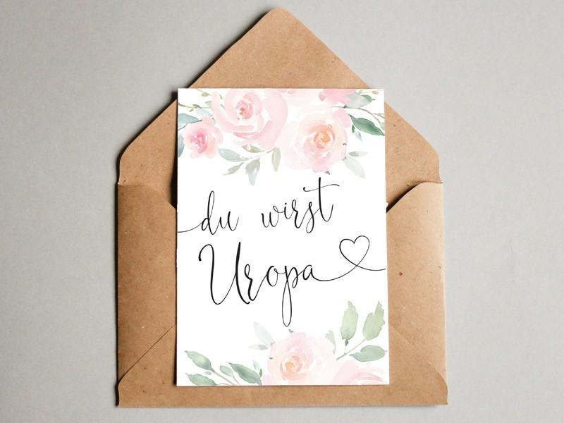 """Karte """"Uropa"""" Roses - 1"""