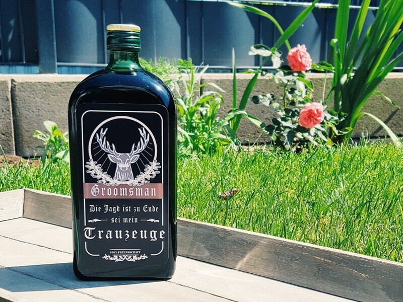 "Flaschenbanderole ""Trauzeuge"" - 1"