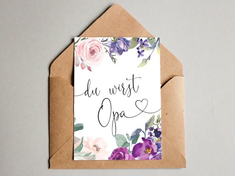 """Karte """"Opa"""" Blossom - 1"""