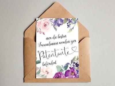 """Karte """"Patentante"""" Blossom - 1"""