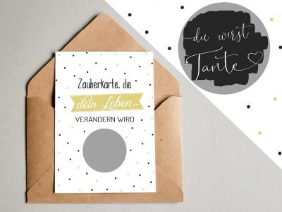 "Rubbel-Karte ""Tante"" - 1"
