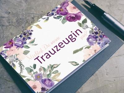 "Postkarte ""Trauzeugin"" Blossom - 1"