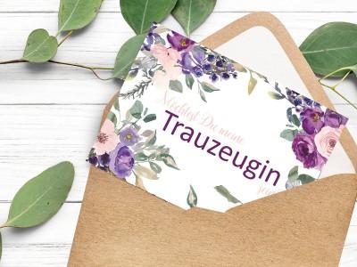 "Postkarte ""Trauzeugin"" Blossom - 2"