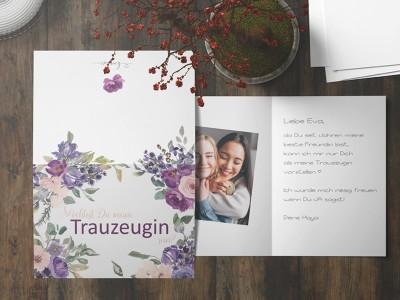 "Postkarte ""Trauzeugin"" Blossom - 3"