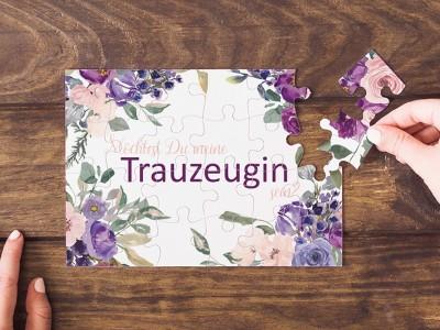 "Puzzle ""Trauzeugin"" Blossom - 1"