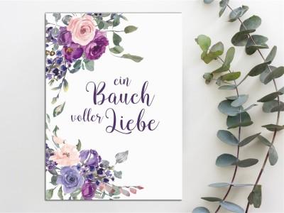 """Mutterpass Hülle """"Blossom"""" - 2"""