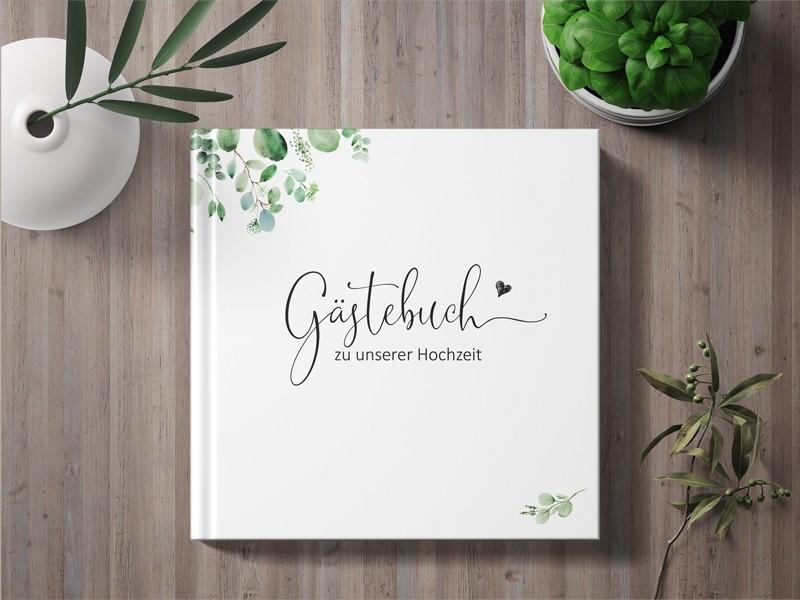 """Gästebuch Hochzeit """"Minimalistic"""" - 1"""