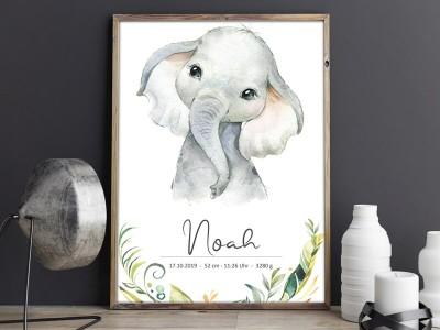"""Geburtsposter """"Elefant"""" - 1"""