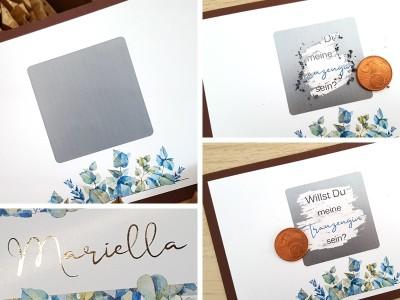 "Rubbel-Postkarte ""Trauzeugin"" Eucalyptus - 3"