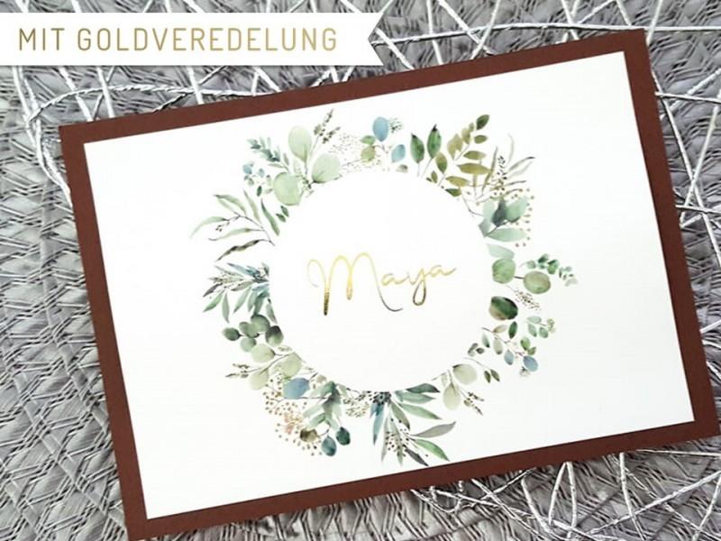 "Rubbel-Postkarte ""Trauzeugin"" Eucalyptus - 1"