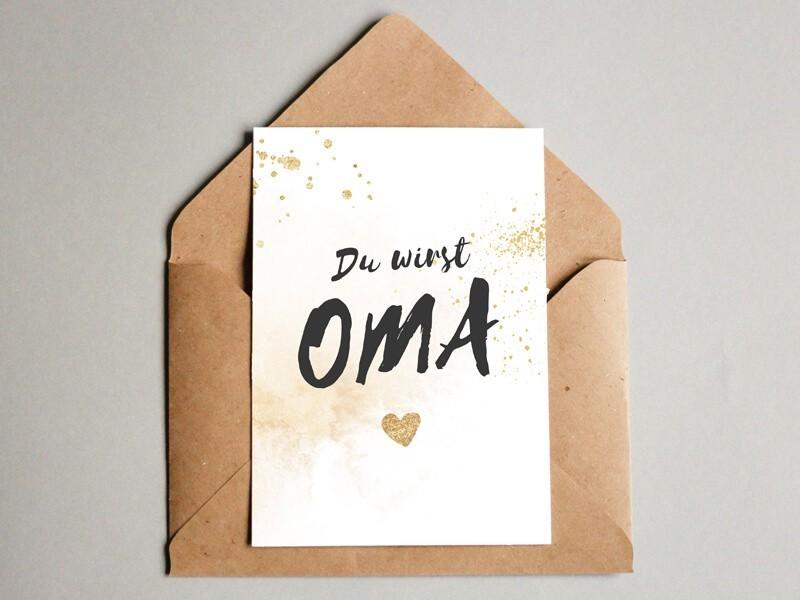 "Karte ""Oma"" Glitter - 1"