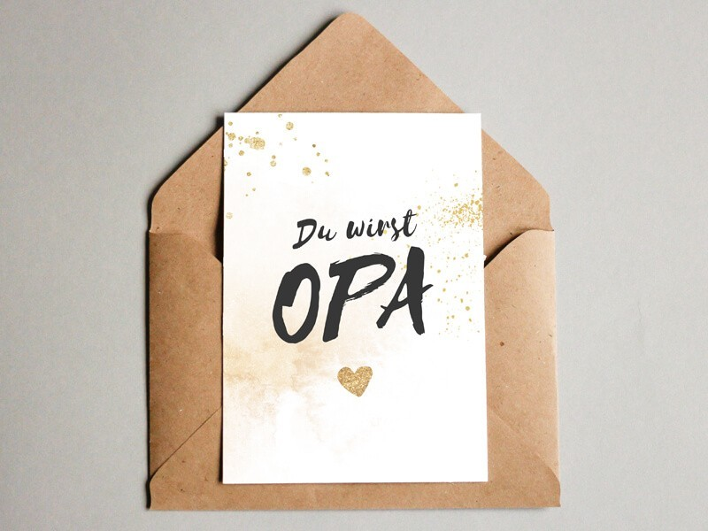 "Karte ""Opa"" Glitter - 1"