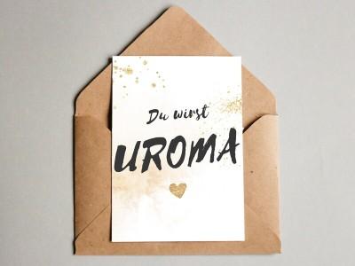 "Karte ""Uroma"" Glitter - 1"