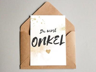 """Karte """"Onkel"""" Glitter - 1"""