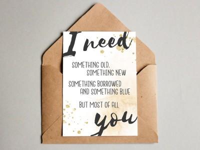 "Postkarte ""Trauzeugin"" Glitter - 3"