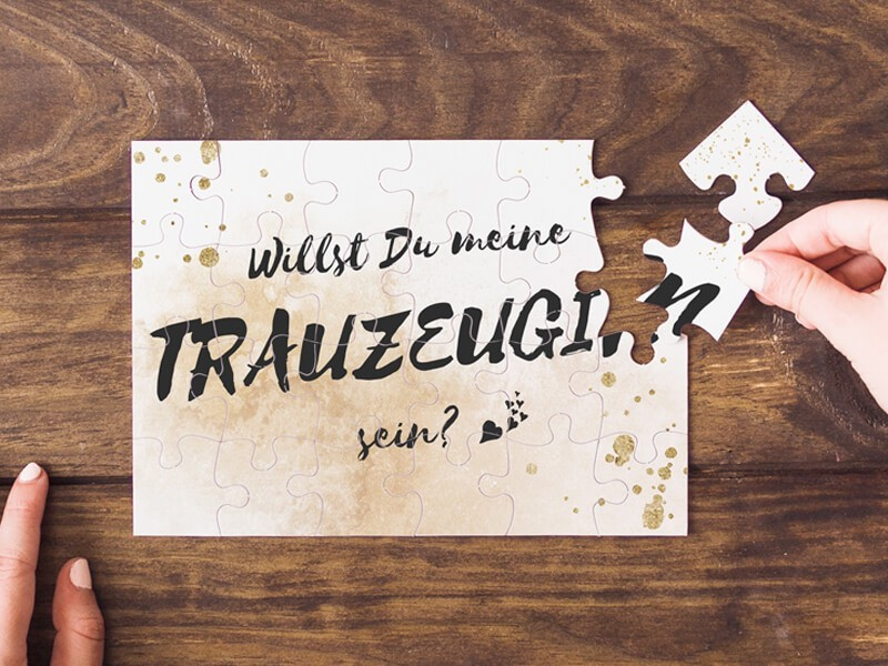 "Puzzle ""Trauzeugin"" Glitter - 1"
