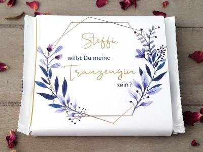 "Schokoladenbanderole ""Trauzeugin"" Elegance - 4"