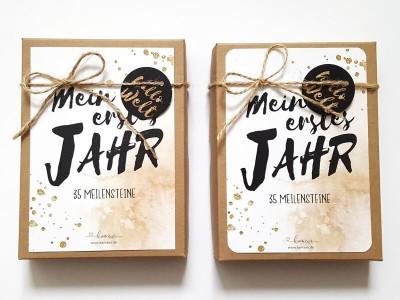 """35 Baby Meilensteinkarten """"Glitter"""" - 2"""