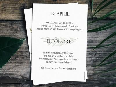 Einladung Kommunion - 2