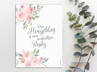 """Mutterpass Hülle """"Roses"""" - 2"""