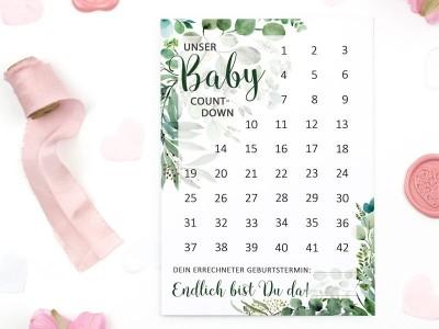 "Baby-Countdown ""Eucalyptus"" - 1"