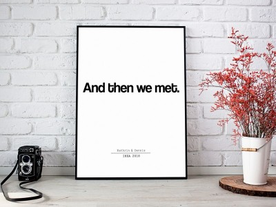 "Poster ""And then we met."""