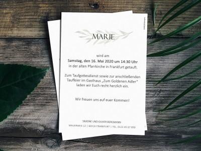 Einladung Taufe - 2