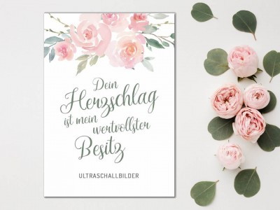 "Erinnerungsmappe Ultraschallbilder ""Roses"" - 1"