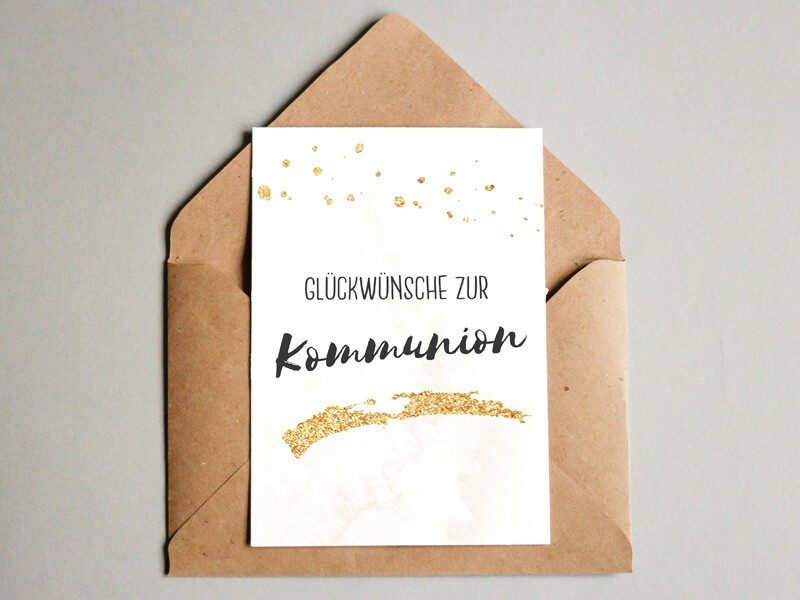 Glückwunschkarte zur Kommunion - 1