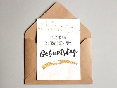 Glückwunschkarte zum Geburtstag - 1